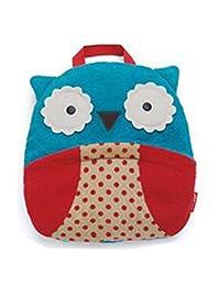 hibote Baby Bags Towels Blankets Cartoon Children Bathrobe Coral Fleece (Blue Owl)