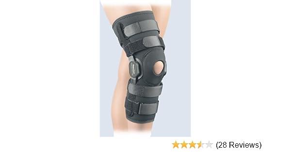 6206ced16e Amazon.com: FLA Orthopedics 37-109LGBLK Powercentric Composite Polycentric  Knee Brace Black, Large: Health & Personal Care