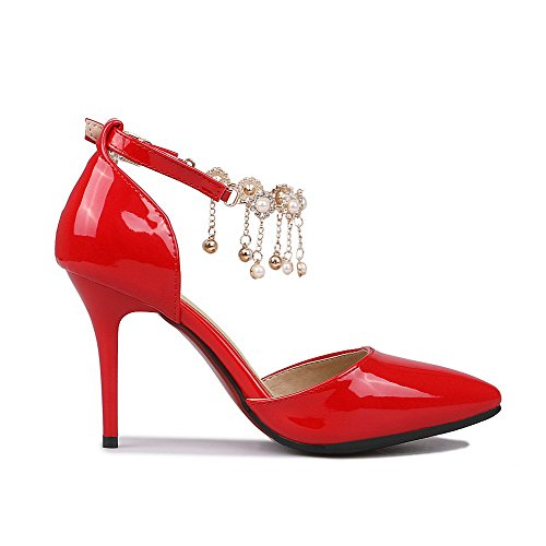 Agoolar Chaussures Pointu Boucle L Femme Stylet Couleur Unie w6PUq