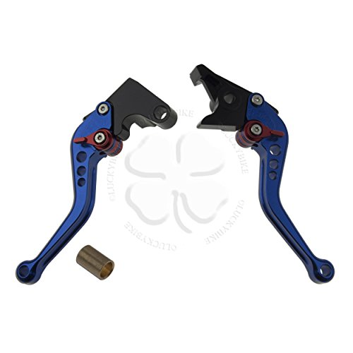 Shorty Hand Levers- Shorty Levers- - CNC - Yamaha - Brake & Clutch Set - 02-03 R1, 99-04 R6 - Blue (Clutch Unbreakable Lever)