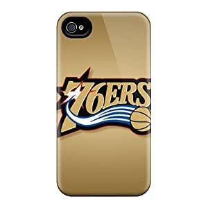 Protective Tpu Case With Fashion Design For Iphone 4/4s (philadelphia 76ers)