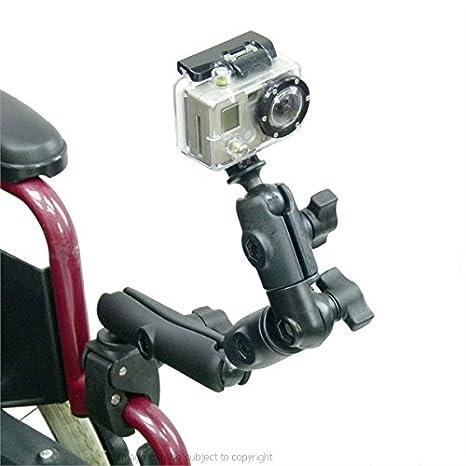 Barra de para silla de ruedas/tubo para GoPro Hero con extensión y giro brazo: Amazon.es: Electrónica