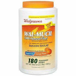 Walgreens Wal-Mucil 100% Natural Fiber Laxative/Dietary Supplement Powder, 36.8 oz (Wal Walgreens Fiber Mucil)