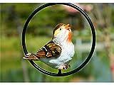 Zhisan Graceful Vintage Iron Ring Bird Wind Chimes Bird Wind Chimes Outdoor Indoor Garden Home