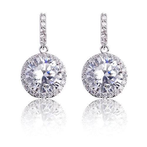 MISASHA Rhinestone Encrusted Dangle Drop Earrings Studs
