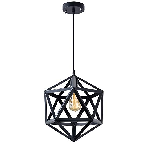Industrial Polygon Pendant Light Geometric Vintage Modern Industrial Lighting Fixture Hanging Light(No Bulb Included)