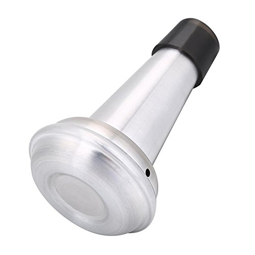 Dilwe Trumpet Mute, Rubber Aluminum Alloy Practice Trumpet Mute Straight Cornet Mute Silencer by Dilwe
