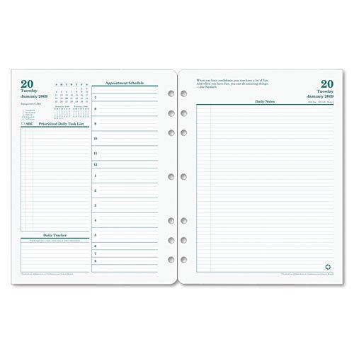 Franklin Original Dated Daily Planner Refill, January - D...