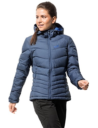 Jack Wolfskin Women's Selenium Windproof Down Puffer Jacket, Ocean Wave, Small