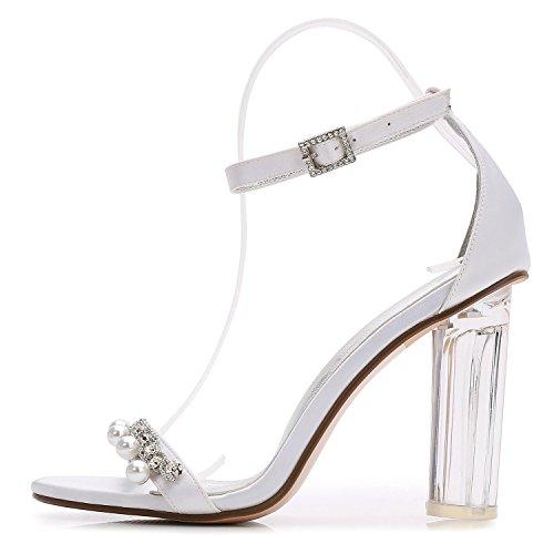 Artificiales De Boda Perlas La 13 De Zapatos Corte TacóN Alto De La Cristal De La Boda De Plataforma Diamante Silver Zapatos Y2615 áSpera con Mujer La De agqZvqx