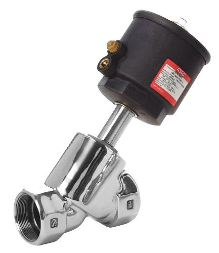 PTFE Sealing ASCO 8290B048 Stainless Steel Body Air//Water Pilot Operated Angle Body Multi-Purpose Valve 63 mm Valve Head Diameter 3//4 Pipe Size 2-Way Normally Closed 3//4 O Entry Under the Disc