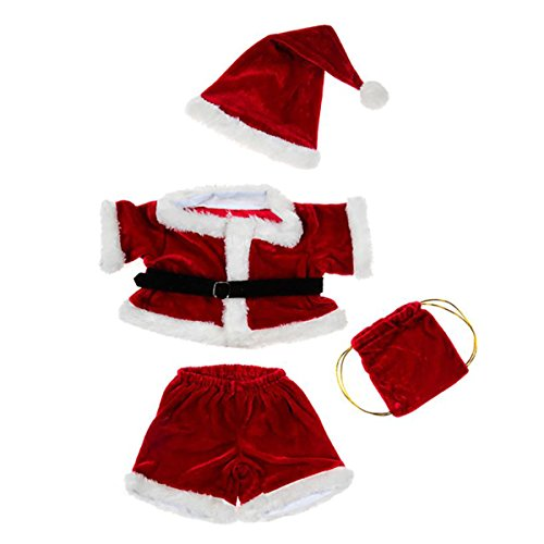 Santa Costume Outfit Teddy Bear Clothes Fit 14