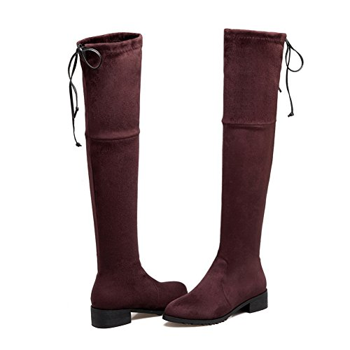 Balamasa Womens Pull-on Mode Solide Polartec-toison Bottes Café