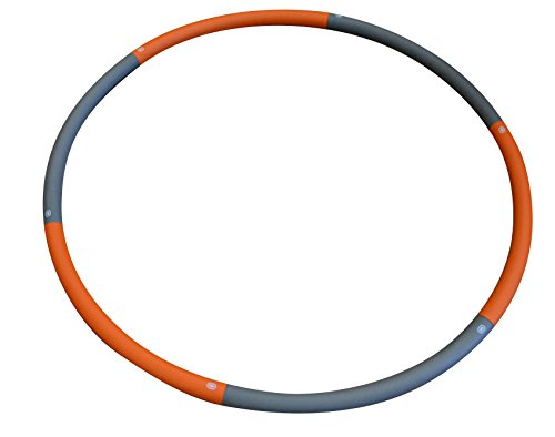Weighted Hula Hoop - Adjustable Weight From 3.3 LBs to 5.3 LBs. - Perfect For Fitness Workouts and Weight Loss Exercises