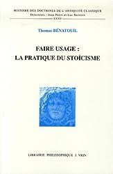 Faire usage : la pratique du stoïcisme