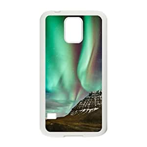 The Aurora Borealis Unique Design Cover Case with Hard Shell Protection for SamSung Galaxy S5 I9600 Case lxa#379981