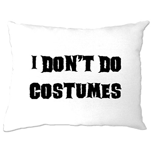 Tim And Ted I Don't Do Costumes Halloween Costume Dad Mom Monster Vampire Pillow (Funny Halloween Jokes For Trick Or Treating)