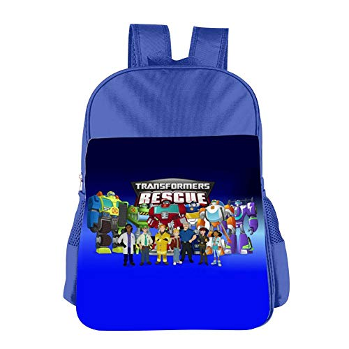 Children's Tra-nsfo-rm-Ers Res-cUe Bo-tS School Book Bags 3D Print Backpack for Girls Boys
