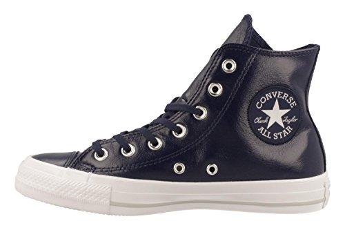Converse Chuck Taylor All Star Scarpe Da Ginnastica Alte In Vernice Plissettata Blu Scuro / Blu Notte