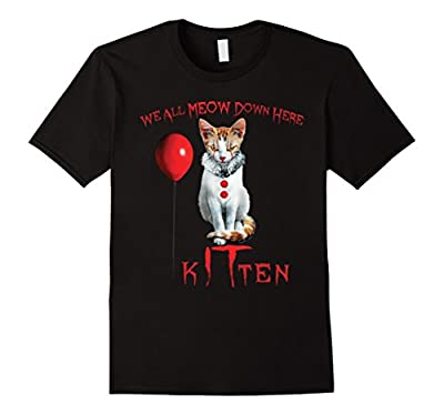 We All MEOW Down Here Clown Cat Kitten T-Shirt