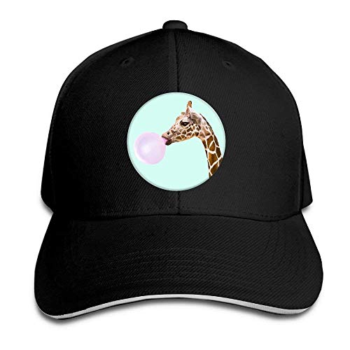 JHDHVRFRr Hat Giraffe Ballboom Denim Skull Cap Cowboy Cowgirl Sport Hats for Men Women