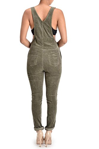 G-Style USA Women's Corduroy Overalls RJHO446 - OLIVE - Large - S6E