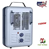 Industrial Space Heaters For Indoor Use Warehouse Garage Jobsite Workhouse.Durable Electric Home Utility Heating Unit W Fan Motor Comfort Control Thermostat And Stay Cool Handles For Easy Carrying NEW
