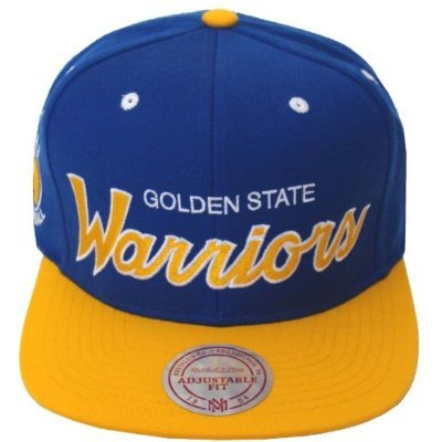 best website c1ea6 89c83 Image Unavailable. Image not available for. Color  Golden State Warriors  Mitchell   Ness Script Snapback ...