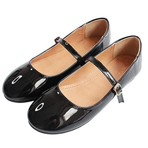 Charol Ballet Zapatos Planos de de F Zapatos FLYRCX Moda de Casual cómodos Zapatos Boca Arco Solos de Baja x4OBwqEH
