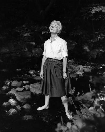 Doris Day full length 1950's pose in blouse & skirt barefoot 8x10 Aluminum Wall Art