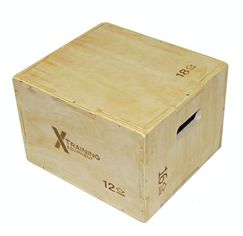 X Training Equipment 3 in 1 Plyometric Jump Box - Great for Crossfit Plyo Box Workouts (Small)