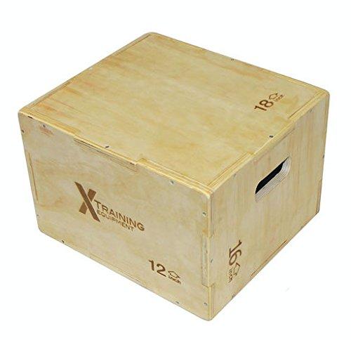 X Training Equipment 3n1 Small Plyometric Jump Box 18''x16''x12'' 3-in-1 by X Training Equipment