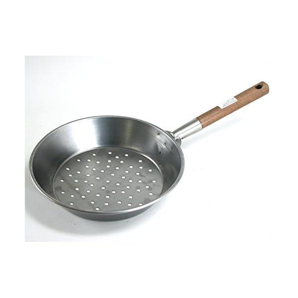 Home 0 Padella per Castagne con Manico, 30 cm, Ferro, Acciaio/Legno 1 spesavip