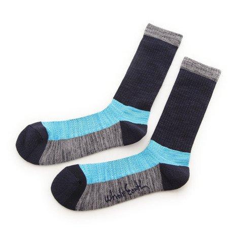 罪悪感入札現金ホールアース(ホールアース) MID WEIGHT COMFORT SOCKS ソックス 靴下 WES17F03-7301 NVY