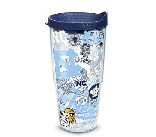 North Carolina Tar Heels NCAA 24oz Wrap Tumbler - Navy ,