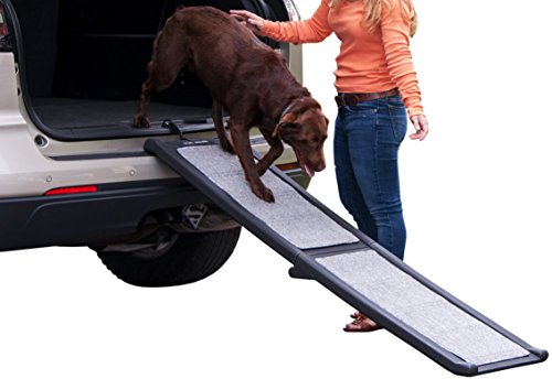 Pet Gear Pg9166Gry All-Weather Bi-Fold Pet Ramp, Full Length, All Weather, Gray