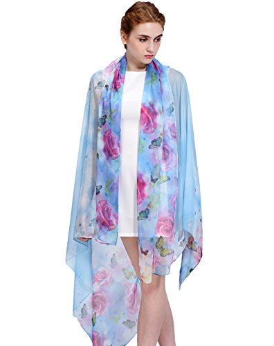 Faurn Oversized Chiffon Painting Floral