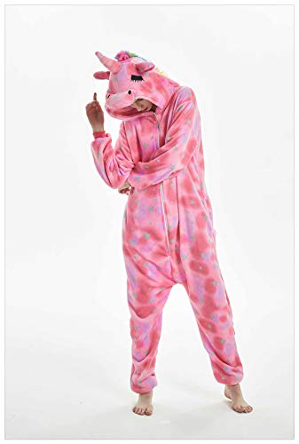 Women Pajamas Halloween Adult Animal Flannel Sleepwear Pajamas Set Pikachu Stitch Unicorn Panda Cartoon Hooded Pajamas Eyes Unicorn S ()
