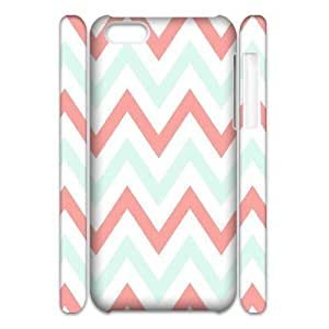 MMZ DIY PHONE CASECoral Chevron 3D-Printed ZLB551110 Unique Design 3D Phone Case for iphone 5/5s