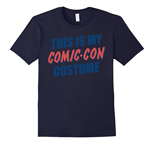 Comic Con Costumes (Mens This Is My Comic-Con Costume Halftone Graphic T-Shirt 3XL Navy)