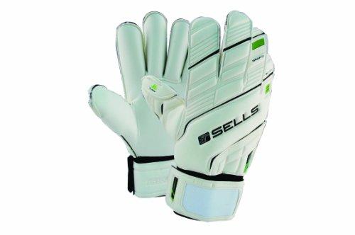 (Sells Goalkeeper Products Wrap Elite Terrain Hardground Goalie Gloves, White, 8 )