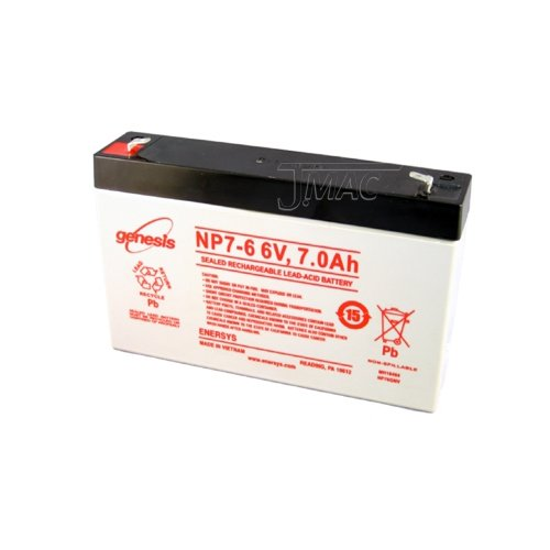 Enersys Np7 6 Lead Acid Battery  6V  7Ah
