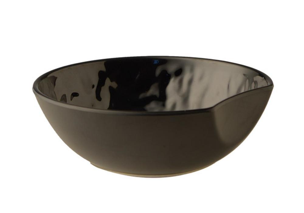 Aps–Cuenco Redondo,–Tao de, melamina, Negro, Piedra, 14,5x 13,5cm, h: 6cm