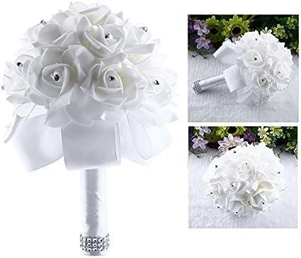 Fiori Da Sposa.Itian Bouquet Da Sposa Di Fiori Artificial Rose Fiori Da Sposa