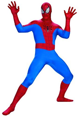 Disguise Men's Marvel Spider-Man Rental Costume, Blue/Red, -
