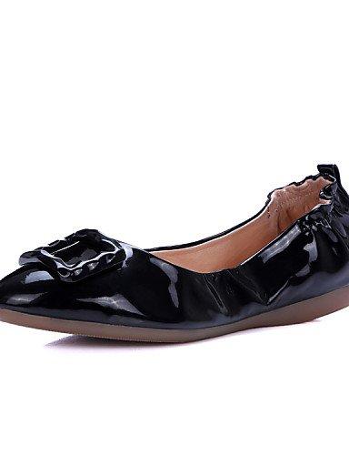 de us5 de eu35 trabajo comodidad Flats zapatos cn34 rojo plano PDX white negro y piel deber talón oficina blanco carrera Athletic mujer uk3 y Casual 1dqBEp