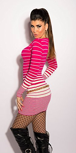 Koucla - Jerséi - para mujer rosa/blanco