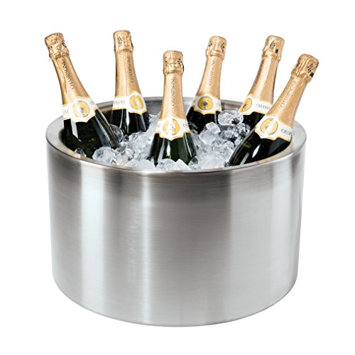 Oggi Double Walled Insulated Stainless Steel Party Tub-Holds up to 12 bottles of Wine or -