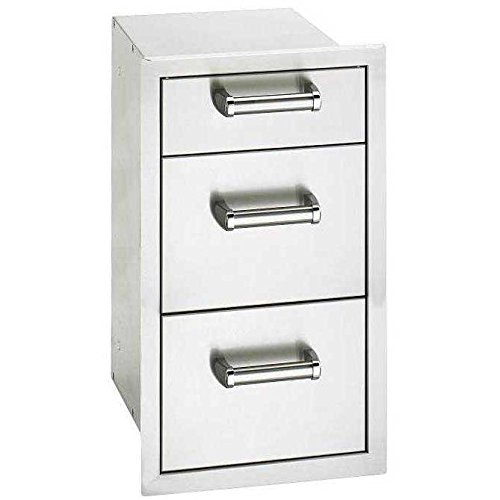 (Fire Magic Premium Flush 14-inch Triple Access Drawer With Soft Close - 53803sc)