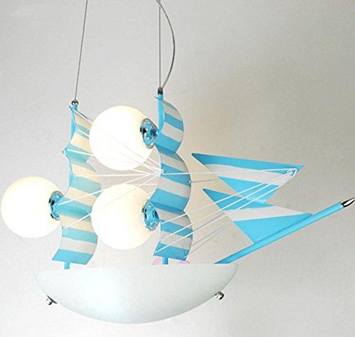 Chrome Yacht Lamp - DGS Yacht Irons Led Lights Energy Saving Children Light Kids Room Chandeliers Warm Creative Boys Bedroom Lighting